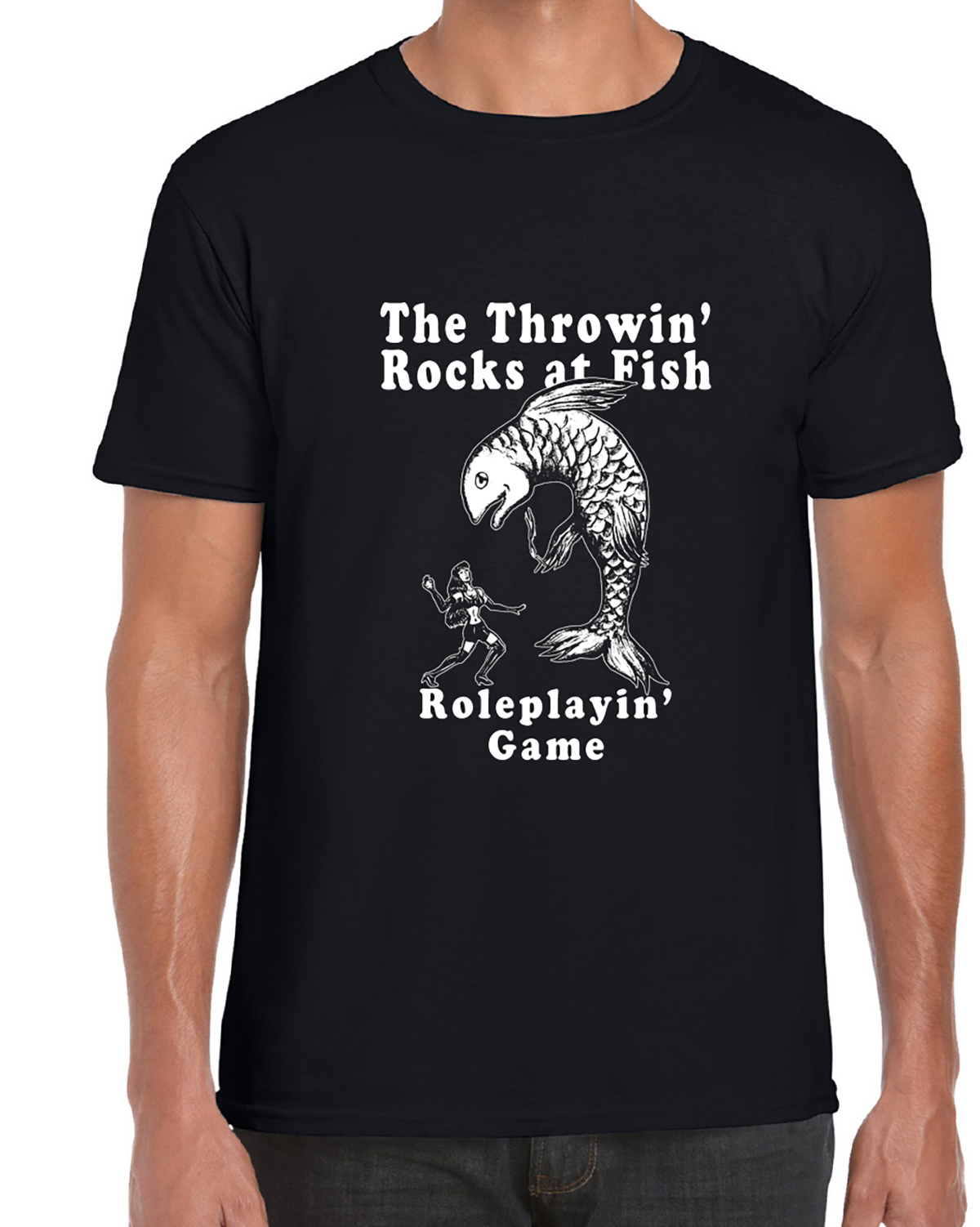 The Throwin' Rocks at Fish Roleplaying Game T-Shirt